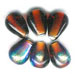 Half Rainbow Glass Beads - click here for large view
