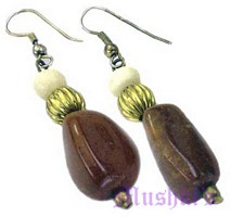 Agate bone earring - click here for large view