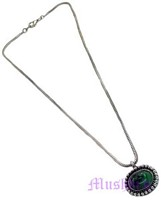 Metal pendant with Chain necklace - click here for large view