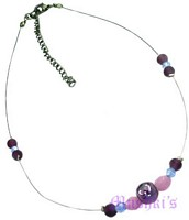 Glass Bead Necklace - click here for large view