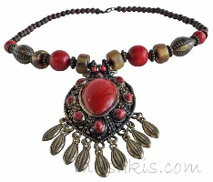 Indian ethnic necklace - click here for large view