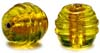Swirled Oval Gold foil beads - click here for large view
