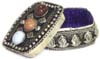 Stone Studded Jewellery / Pill box - click here for large view