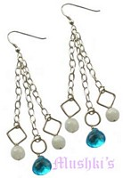Semi precious silver  earring - click here for large view