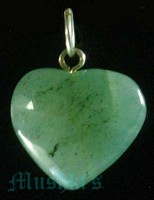 Heart Pendant With Sterling Silver Plated  Loop - click here for large view