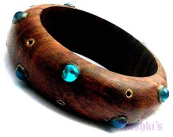 Wooden Bangle - click here for large view