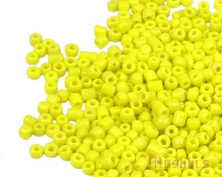Yellow opaque plain Indian glass seed bead - click here for large view