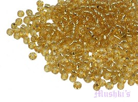 Topaz Plain Transparent  Indian glass seed bead - click here for large view