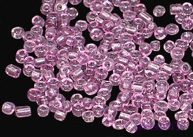Amethyst luster Transparent Indian glass seed bead - click here for large view