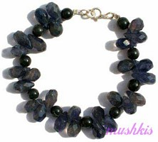 Gemstone beaded bracelet - click here for large view